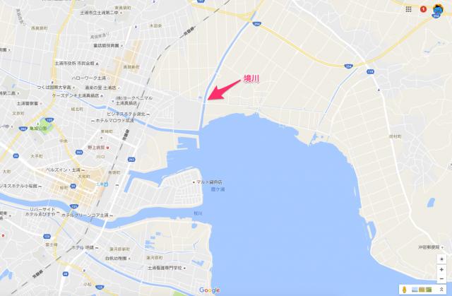 境川(霞ヶ浦おかっぱりポイント)