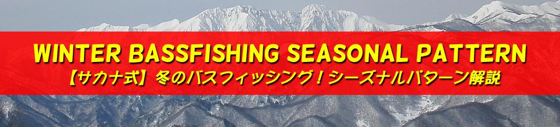 冬 バス釣り シーズナルパターン解説