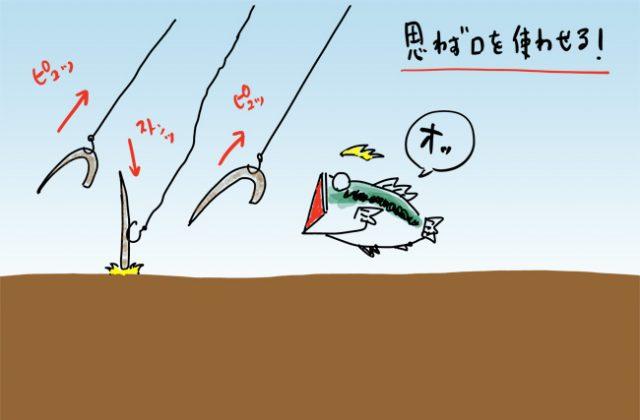 バス釣り ネコリグ リアクション